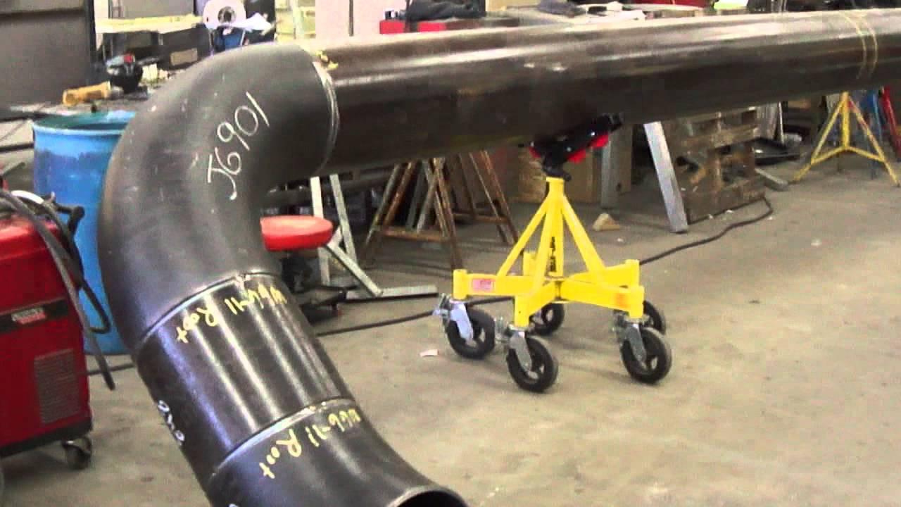 Pipefitting fabrication shop 4 1 11 - YouTube