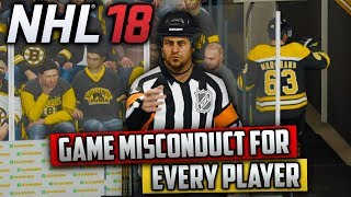 Is It Possible For Every Player to Get a Game Misconduct? (NHL 18 Challenge)