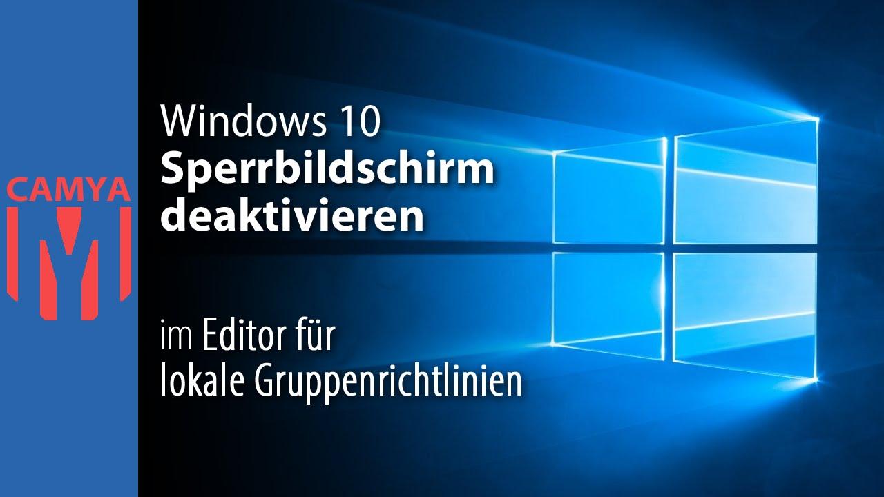 Windows 10 sperrbildschirm hintergrundbild gruppenrichtlinie