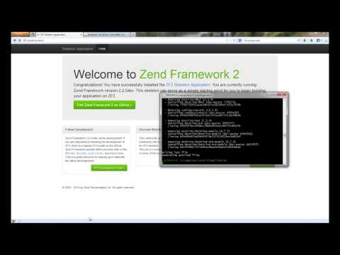 How to build a Zend Framework 2 web application in simple steps.