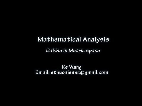 【Mathematical Analysis】Dabble in metric space