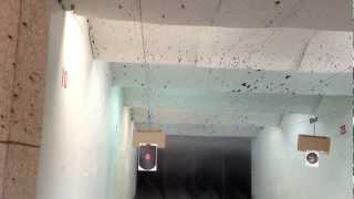 シューティングレンジで44マグナムのサイトをゼロインしている動画です...