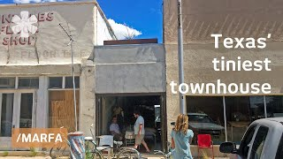 Texan alley turned into barber shop turned into skinny house