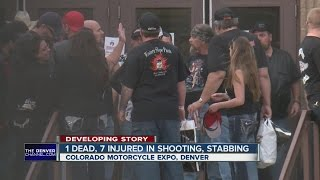 1 dead, 7 injured in Colorado Motorcycle Expo shooting, stabbing