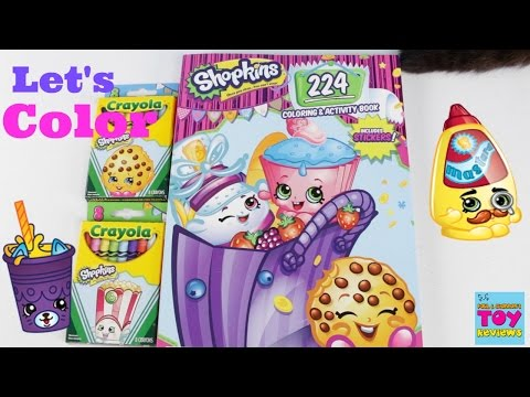 Shopkins Crayola Crayons Coloring Book Bendon Speed Color   PSToyReviews