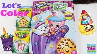 Shopkins Crayola Crayons Coloring Book Bendon Speed Color | PSToyReviews