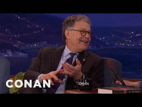 Senator Al Franken: My Staff Had To Reign My Humor In  - CONAN on TBS