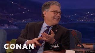 Senator Al Franken: My Staff Had To Reign My Humor In  - CONAN on TBS