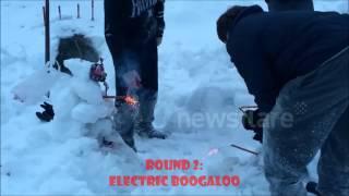 Snowman Roman Candle Battle