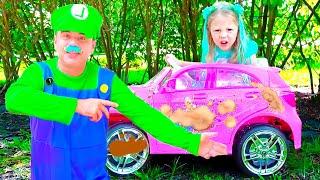 나스티아와 아빠는 세차장 놀이를 해요! 한국 어린이 이야기