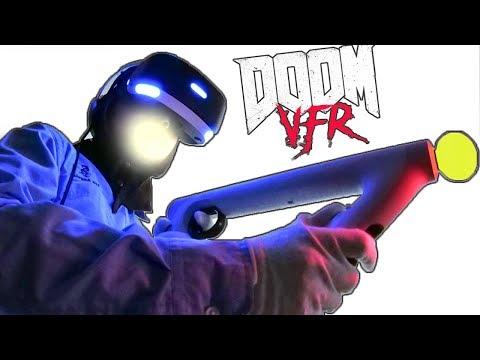 LET'S TRY VR... DOOM VFR GAMEPLAY! Playstation VR Unboxing + Aim Controller