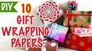 How To Make Gift Wrapping Paper | DIY Christmas Gift Wrap | Kreena Desai