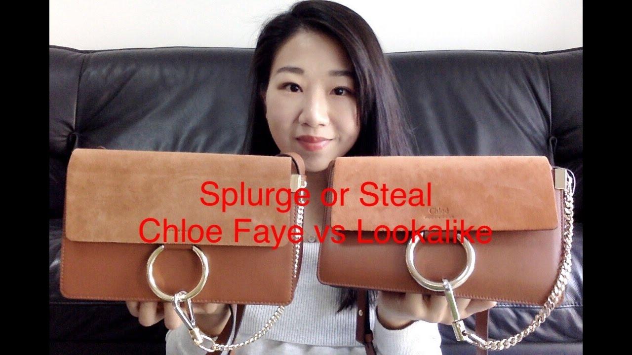 16b98e1a44b96 Splurge or Steal Chloe Faye Bag vs Lookalike - YouTube