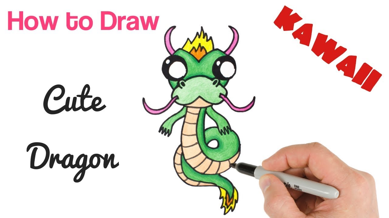 How to Draw a Dragon Baby Cute and Easy for beginners ...