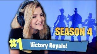 MY FIRST SEASON 4 WIN! (Fortnite: Battle Royale) | KittyPlays