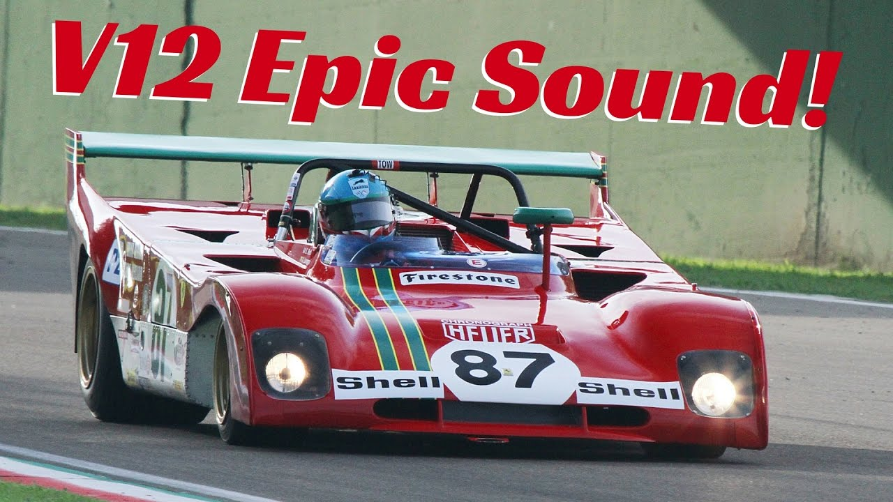 Ferrari 312 PB (1972) Group 5 Sports Car   Action, Accelerations, Fly Bys U0026  V12 Pure Sound!