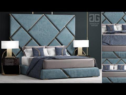 "№84. Моделирование кровати "" Bed 2084"" в 3d Max и Marvelous Designer"