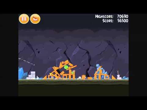 Angry Birds - Mine And Dine Level 16-8 Walkthrough 3 Stars