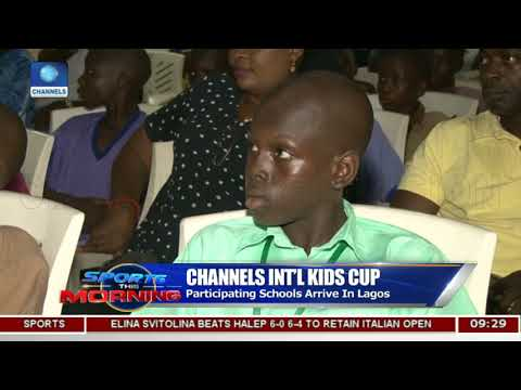 Channels Kids Cup: Players Receive Branded Jerseys For The Tour. |Sports This Morning|