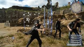 Final Fantasy XV Sword of the Wise Royal Arm, Blazefire Saber, Mage Mashers, & Masamune - PS4