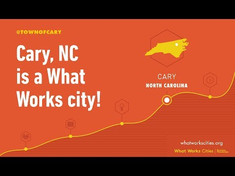 Cary Town Manager Sean Stegall on What Works Cities Initiative