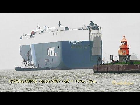 CYGNUS LEADER 3EKK5 IMO 9381249 Emden Germany car carrier Autotransporter tugs Schlepper