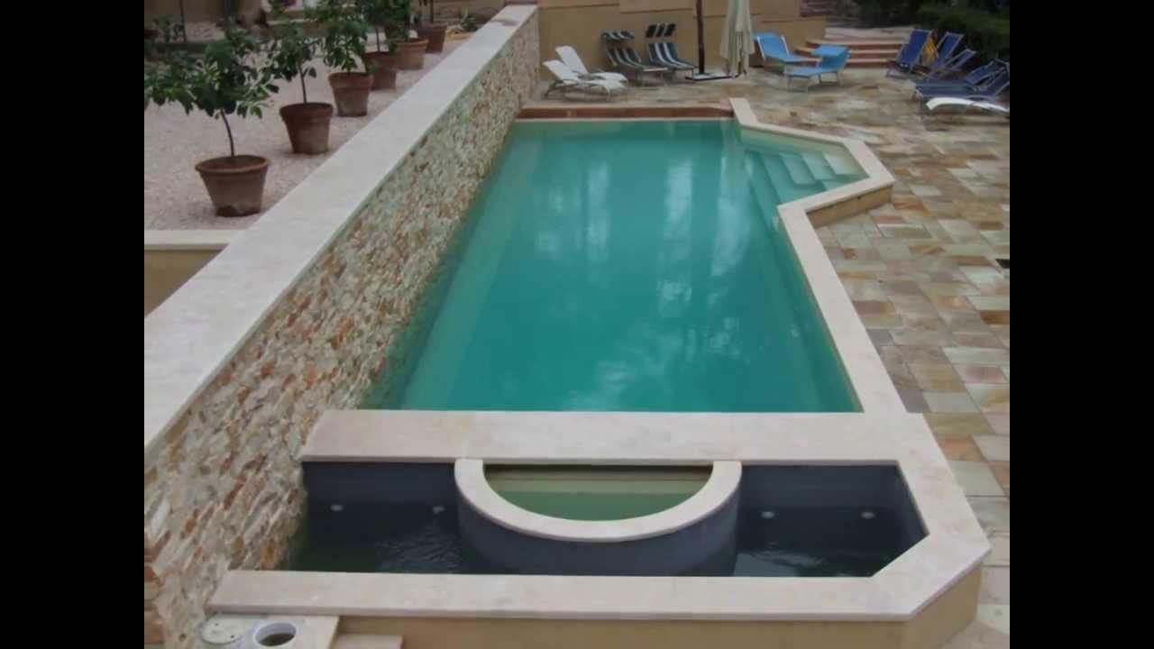 Piscina a Bordo Sfioro, con vasca idromassaggio e nuoto controcorrente. - YouTube