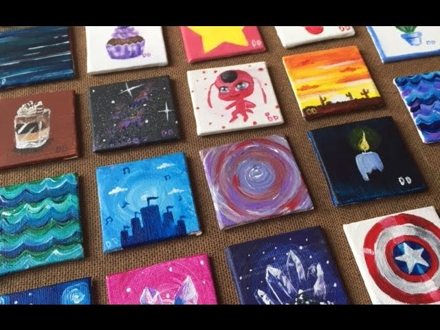 Painting On 22 Tiny Canvases Youtube