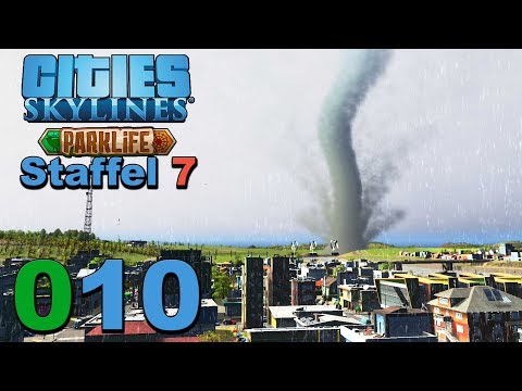 Tornado Time 🌇 [S7|010] Let's Play Cities Skylines Parklife DLC |