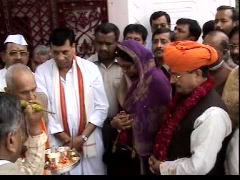 Visit of Sh & Smt G S charak at Jammu yatra bhawan haridwar on occasion of mahashivratri.