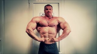 Russian muscle giant posing and training
