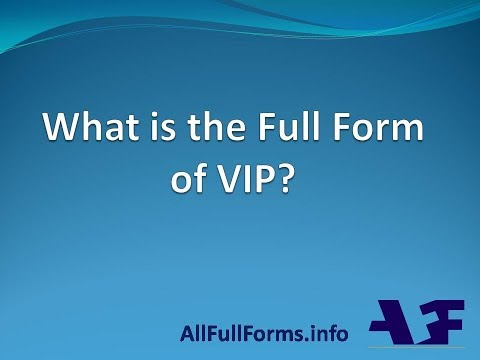 VIP Full Forms | VIP का पुरा नाम