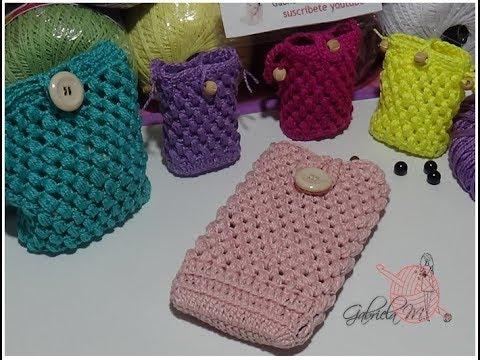 grandes ofertas mejor calidad la mejor moda Bolsas mini bolsitas y funda de celular en crochet - YouTube
