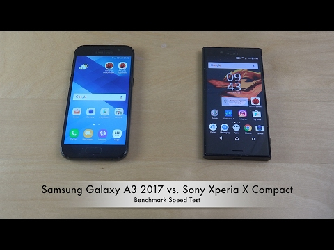 Samsung Galaxy A3 2017 vs. Sony Xperia X Compact - Benchmark Speed Test!