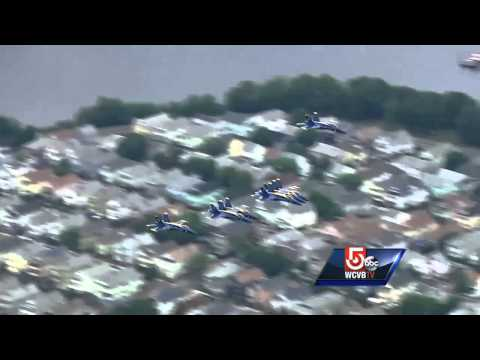 Uncut: Blue Angels Fly Over Boston