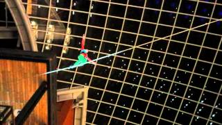 Cabot Circus Christmas lights 5 - high wire act