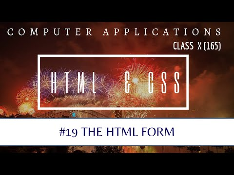 FORM Tag For Log In Web-page | HTML | CLASS X CBSE | COMPUTER APPLICATIONS 165