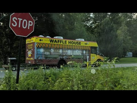 Guy Goes Crazy When He Sees The Waffle House Food Truck Youtube