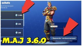 PLEASE ALL YOUR SKINS, PLANOR, PIOCHE ECT... ▶ M.A.J 3.6.0 FORTNITE