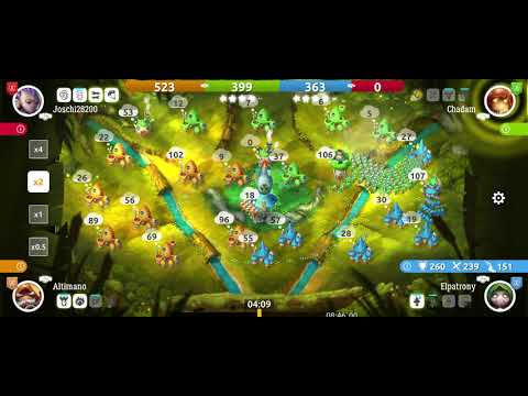 Mushroom wars 2 almost lost due to teammate, long game x2 speed 2v2 |