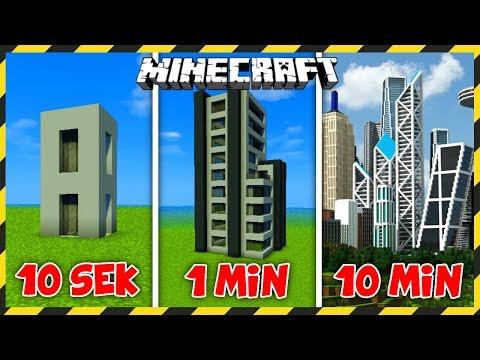 MINECRAFT: Budujemy WIEŻOWIEC W 10 SEKUND, 1 MINUTĘ I 10 MINUT!