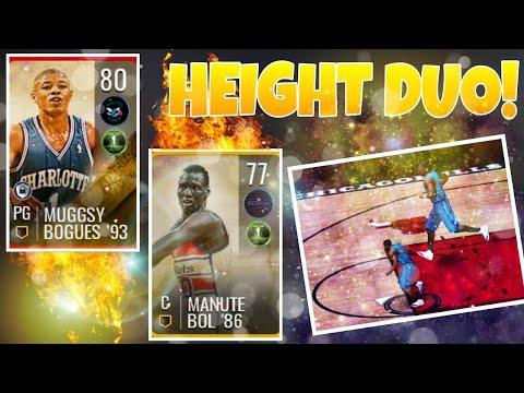 INSANE  HEIGHT  DUO! MUGGSY BOGUES   MANUTE BOL GAMEPLAY! (NBA Live ... 3ae3d1322