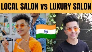 Rs.100 Haircut vs Rs.1500 Haircut in India 🔥🔥!!