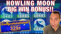 HOWLING MOON ULTRA BIG WIN BONUS!! 👑💰🎉| The GOLD min vs max bet who wins?!?! 😂🎰
