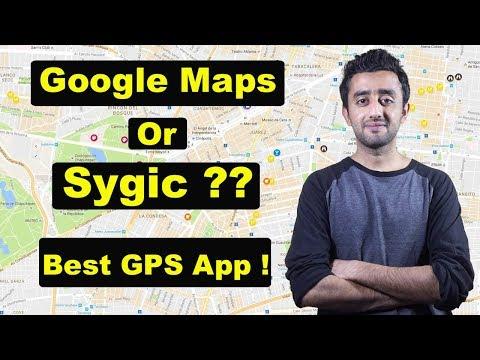 Best Offline GPS App - Google Maps Vs Sygic GPS App ?? Urdu Hindi