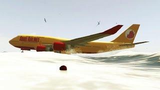 GTA 5 - Você já viu um avião DAR UM CAVALO DE PAU NA ÁGUA ? ( e outras cenas engraçadas )