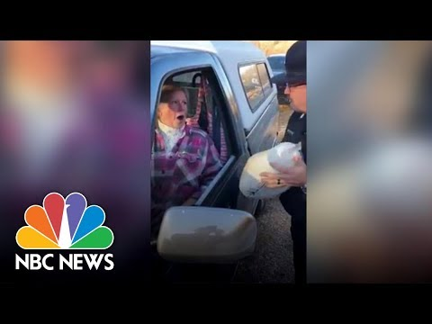 Download Youtube: Police Give Turkeys, Not Tickets | NBC News