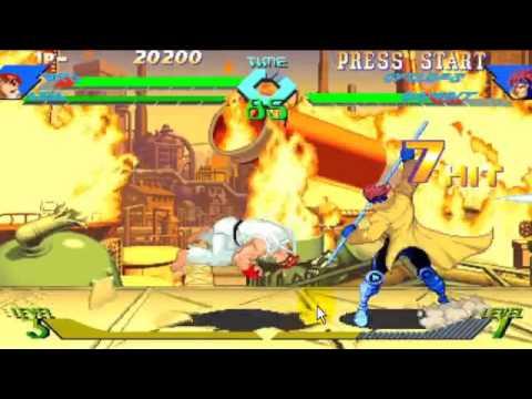 Download xmen vs street fighter ryu ken versus cylops gambit