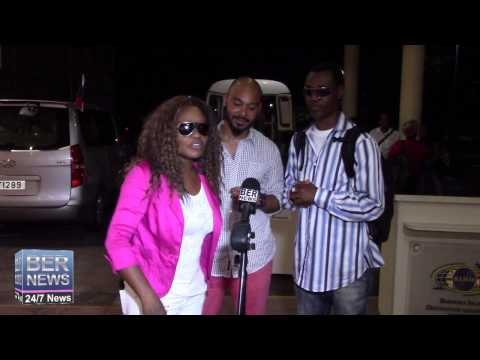 Wayne Wonder & Tanya Stephens Arrive In Bermuda, July 29 2015
