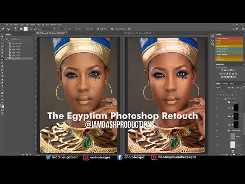Photoshop Tutorial - The Egyptian Retouch - Photographer I am Dash Production thumbnail